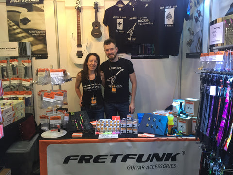 Fretfunk team at guitar show