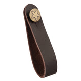 Acoustic Guitar Strap Button - Fretfunk - Brown strap button with star design