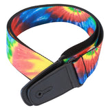 Guitar strap with tie dye design