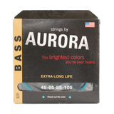 Aurora Premium Coloured Bass Guitar Strings for 4-String Basses 45-105 Aqua