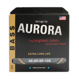 Aurora Premium Coloured Bass Guitar Strings for 4-String Basses 45-105 Gold