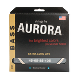 Aurora Premium Coloured Bass Guitar Strings for 4-String Basses 45-105 White