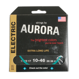 Aurora Premium Coloured Electric Guitar Strings 10-46 Aqua