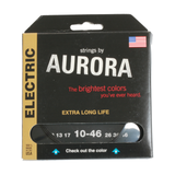 Aurora Premium Coloured Electric Guitar Strings 10-46 Black