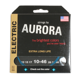 Aurora Premium Coloured Electric Guitar Strings 10-46 Blue
