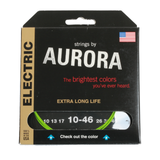 Aurora Premium Coloured Electric Guitar Strings 10-46 Nitro Lime