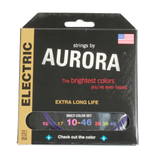Aurora Premium Coloured Electric Guitar Strings 10-46 Multi Coloured