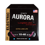 Aurora Premium Coloured Electric Guitar Strings 10-46 Pink