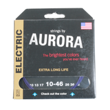 Aurora Premium Coloured Electric Guitar Strings 10-46 Purple