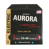 Aurora Premium Coloured Electric Guitar Strings 10-46 Red
