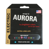 Aurora Premium Coloured Electric Guitar Strings 9-42 Multi Coloured