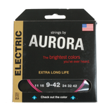 Aurora Premium Coloured Electric Guitar Strings 9-42 Pink