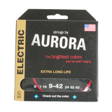 Aurora Premium Coloured Electric Guitar Strings 9-42 Red