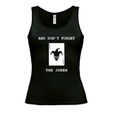"Ladies ""And don't forget the joker"" Design Black Vest - Inspired by Motorhead"