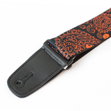 "Guitar Strap with ""Bandana Skulls"" Design - Fretfunk  - 5"