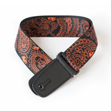 "Guitar Strap with ""Bandana Skulls"" Design - Fretfunk  - 1"