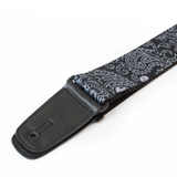 "Guitar Strap with ""Bandana Skulls"" Design - Fretfunk  - 7"