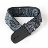 "Guitar Strap with ""Bandana Skulls"" Design - Fretfunk  - 3"