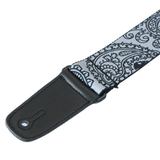 "Guitar Strap with ""Bandana Skulls"" Design - Fretfunk  - 8"