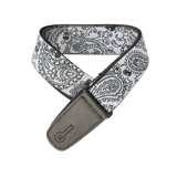 "Guitar Strap with ""Bandana Skulls"" Design - Fretfunk  - 4"
