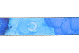 Fretfunk presents beautiful Blue Floral Design Guitar Strap