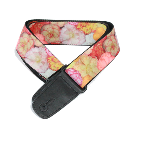 "Guitar Strap with ""Floral"" Design - Fretfunk - 1"