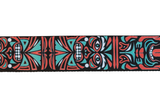Fretfunk Totem Carving guitar strap close up