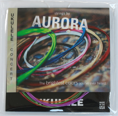 Aurora Premium Coloured Concert Ukulele Strings