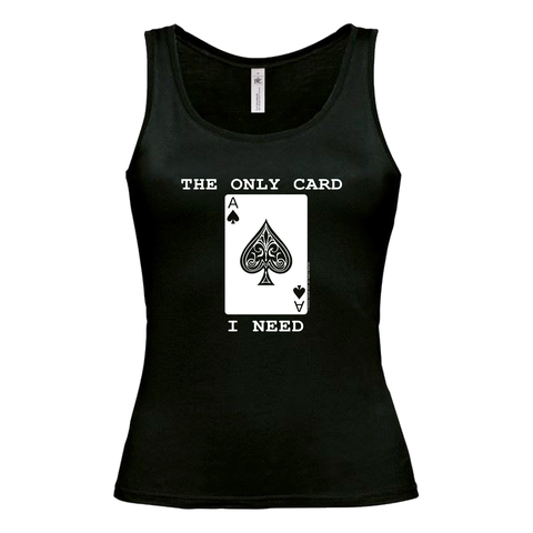 "Ladies ""The Only Card I Need"" Vest - Inspired by Motorhead"