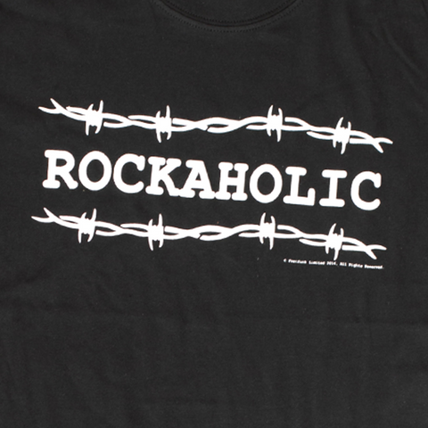 "Men's ""Rockaholic"" Design T-Shirt - Fretfunk  - 2"