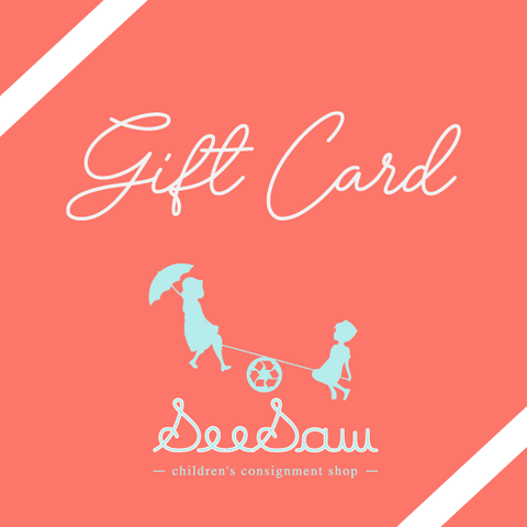 gift cards from seesaw for kids consignment