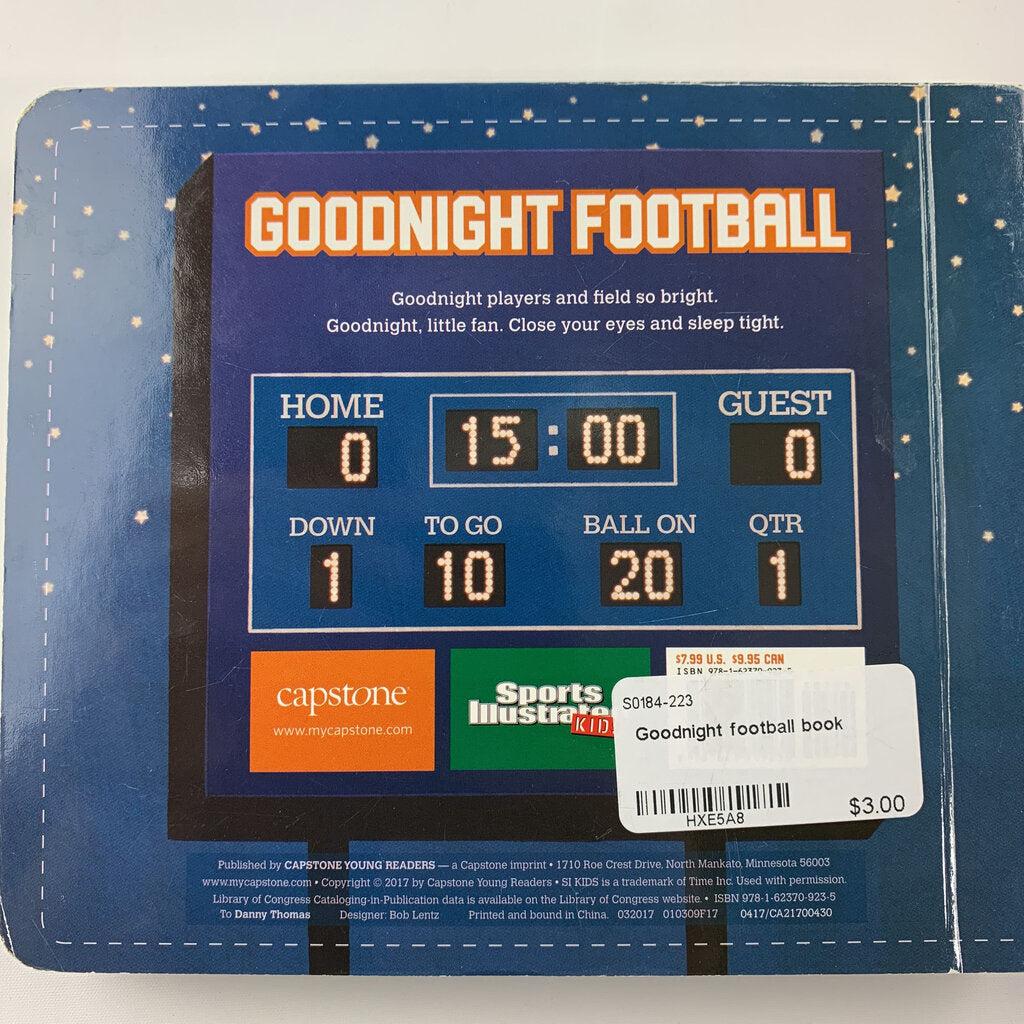 Goodnight football book
