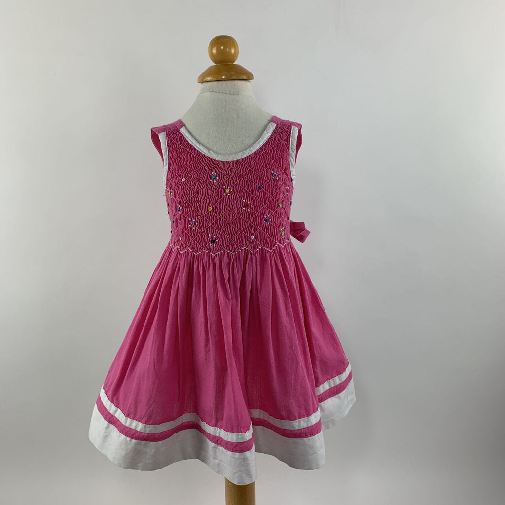 Pink Smocked Sundress - SeeSaw Childrens Consignment