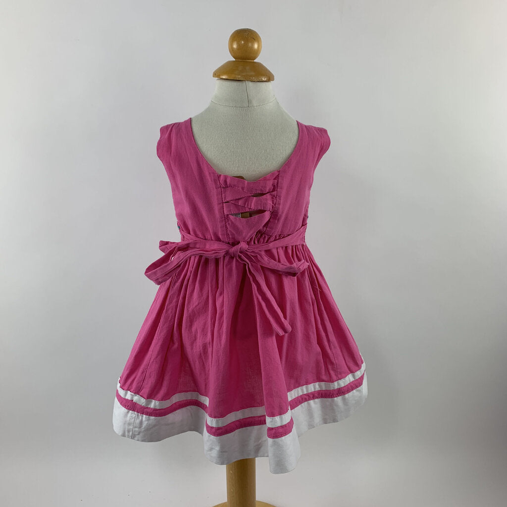 Pink Smocked Sundress