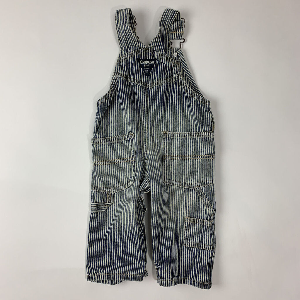 Osh stripe overalls - SeeSaw Childrens Consignment