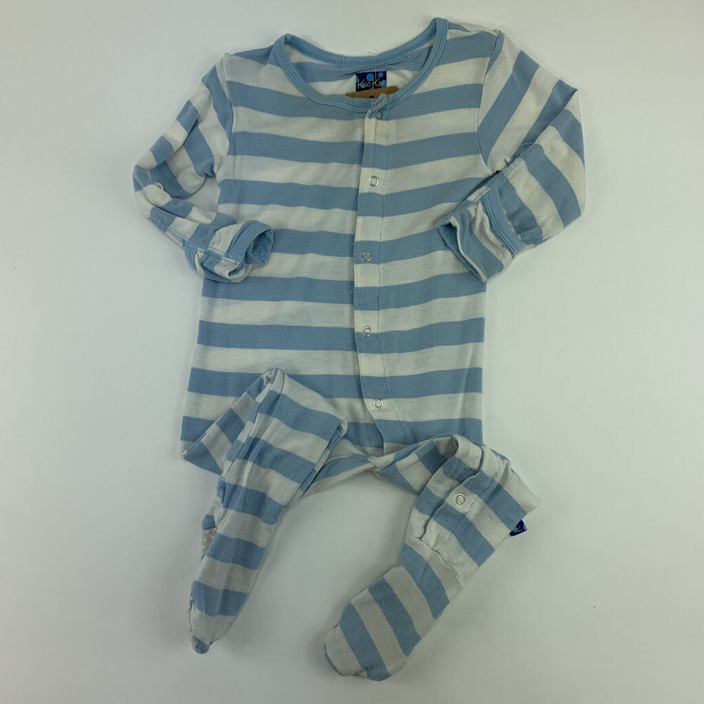 Kickee Pants Stripe Footy Size 6-9 mo - SeeSaw Childrens Consignment