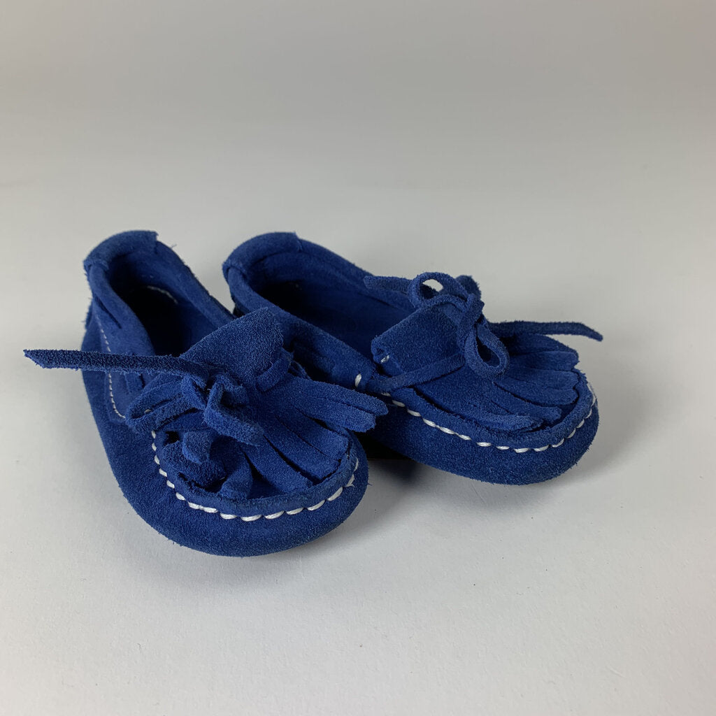 Zara blue shoes moccasins - SeeSaw Childrens Consignment