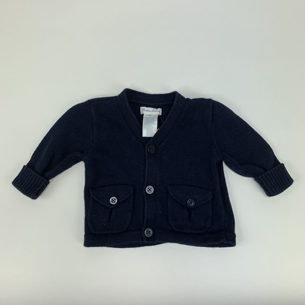 Ralph Lauren Navy Sweater Size 6 mo - SeeSaw Childrens Consignment