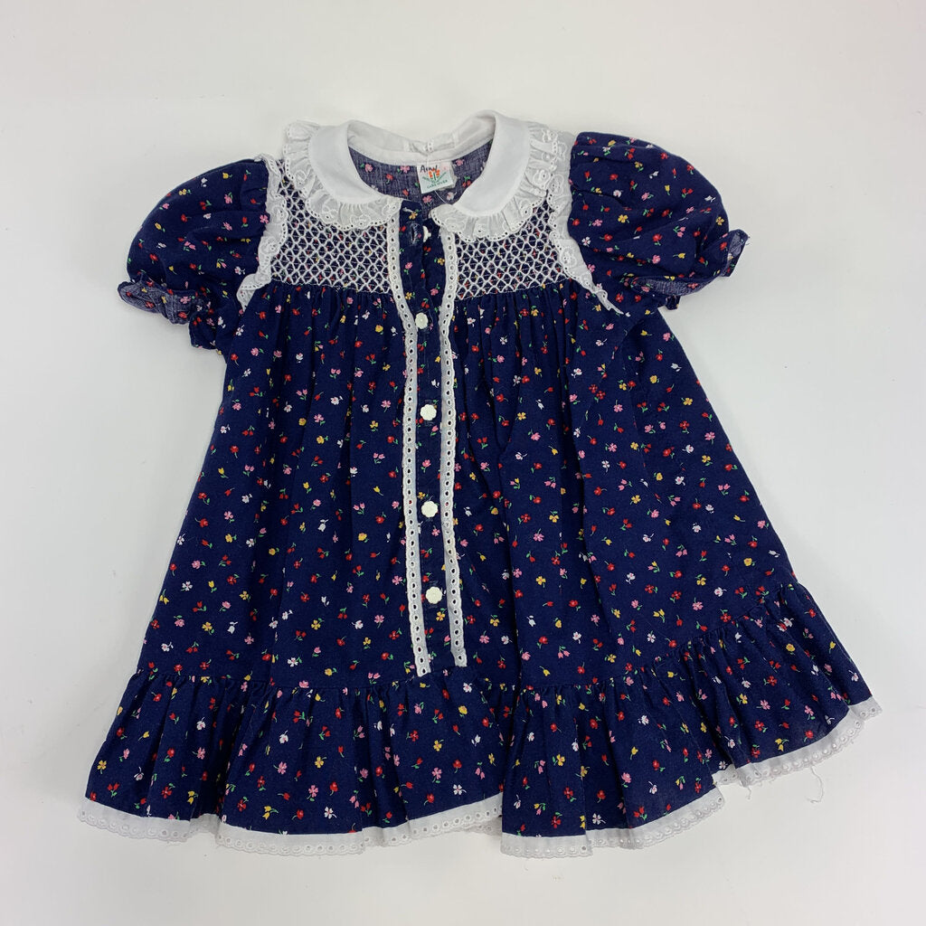 Peaches N Cream Floral Vintage Dress Size12-18 mo - SeeSaw Childrens Consignment