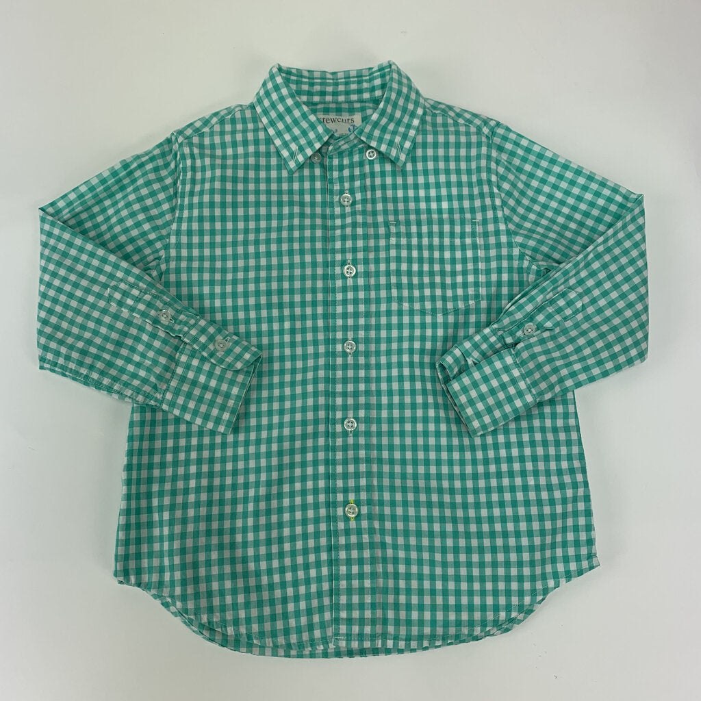 Crewcuts Gingham Button up Shirt SIze 3 - SeeSaw Childrens Consignment