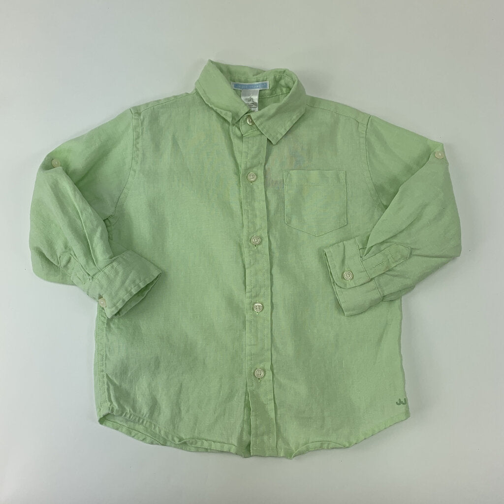 Janie And Jack Linen Button Up Shirt Size 2 - SeeSaw Childrens Consignment