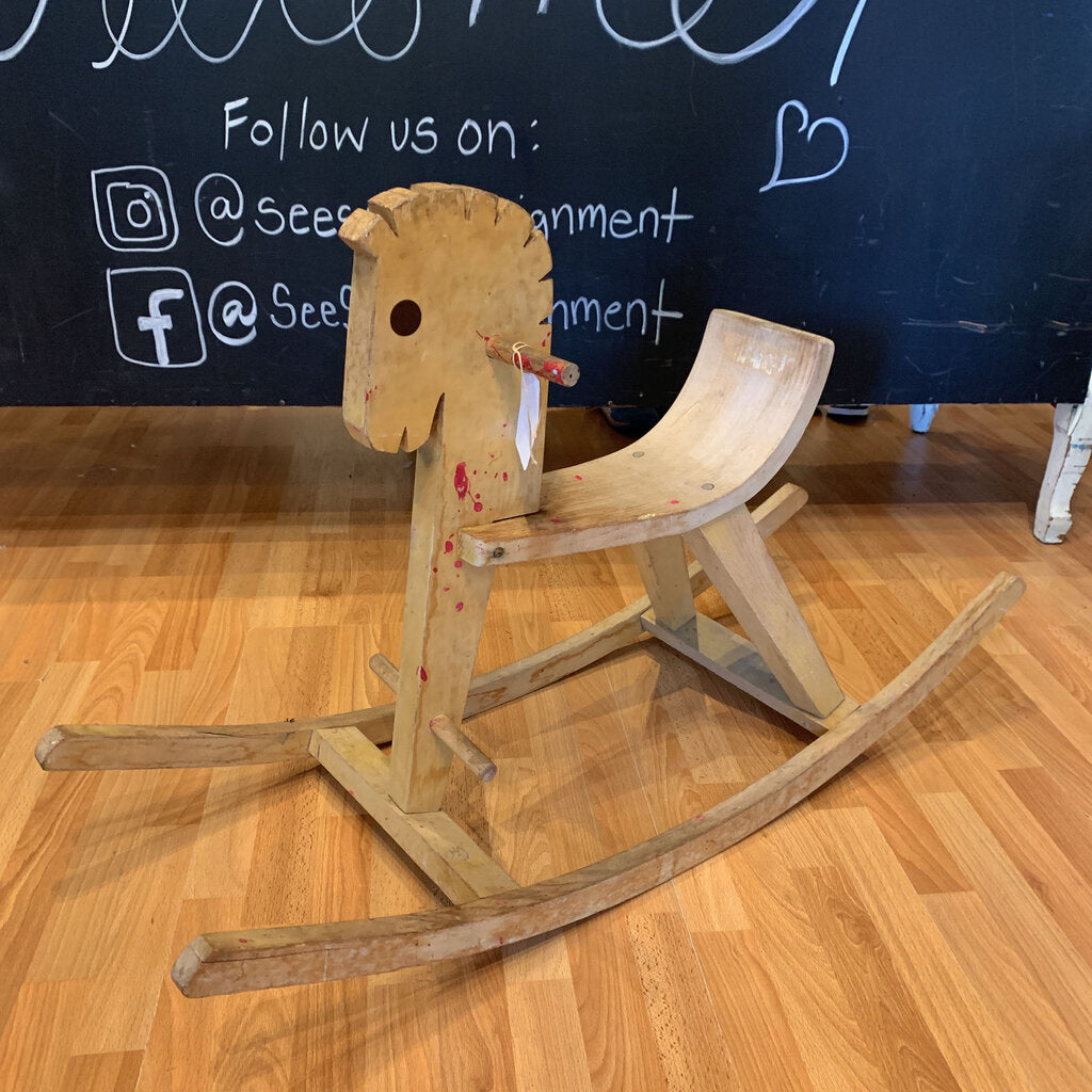 Vintage Wooden Rocking Horse - SeeSaw Childrens Consignment