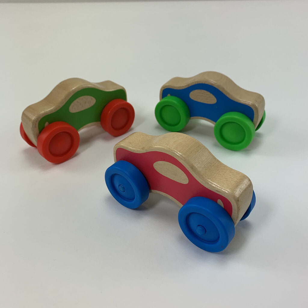 Melissa Doug Set Of 3 Wooden Cars - SeeSaw Childrens Consignment