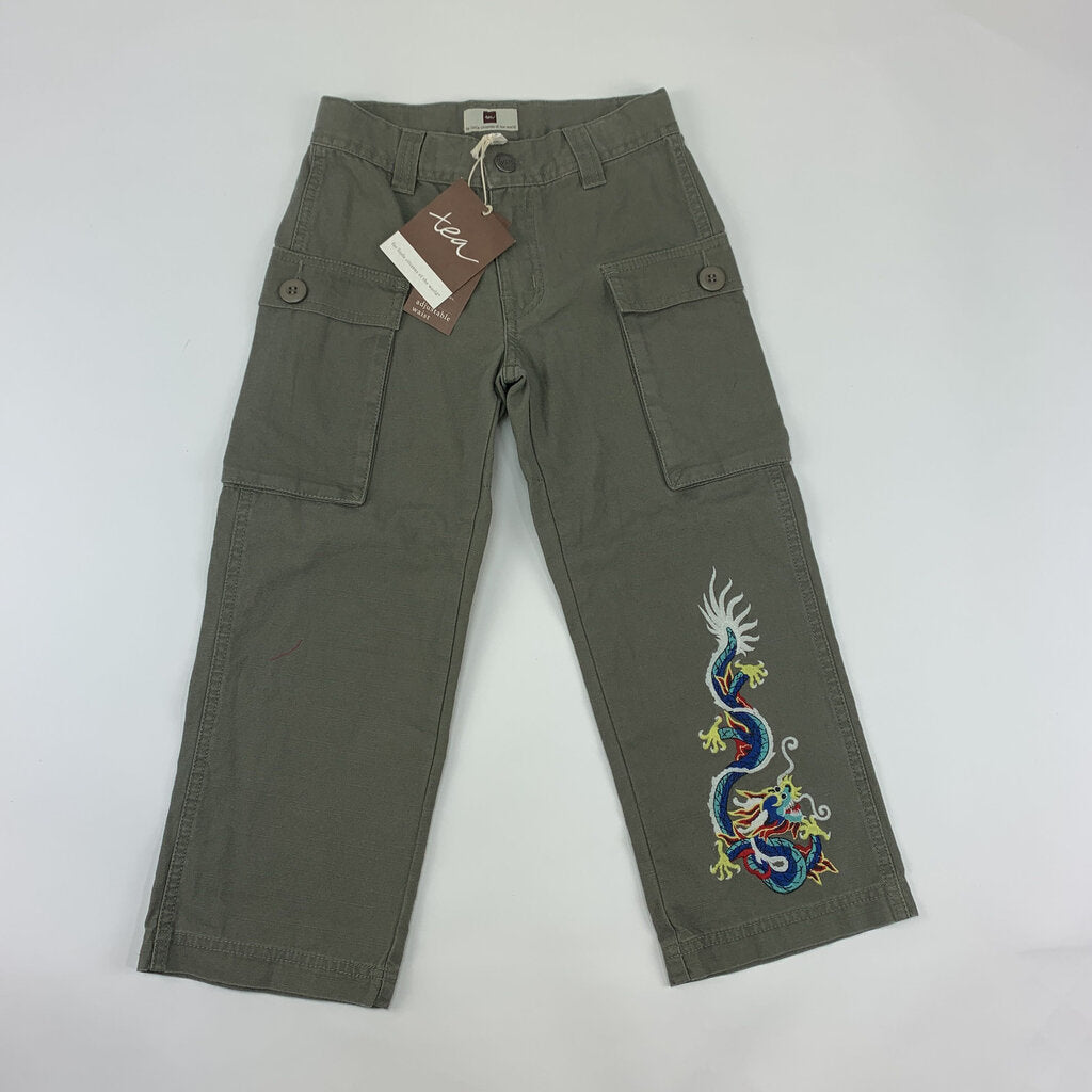 Tea NEW Dragon Cargo Pants SIze 5