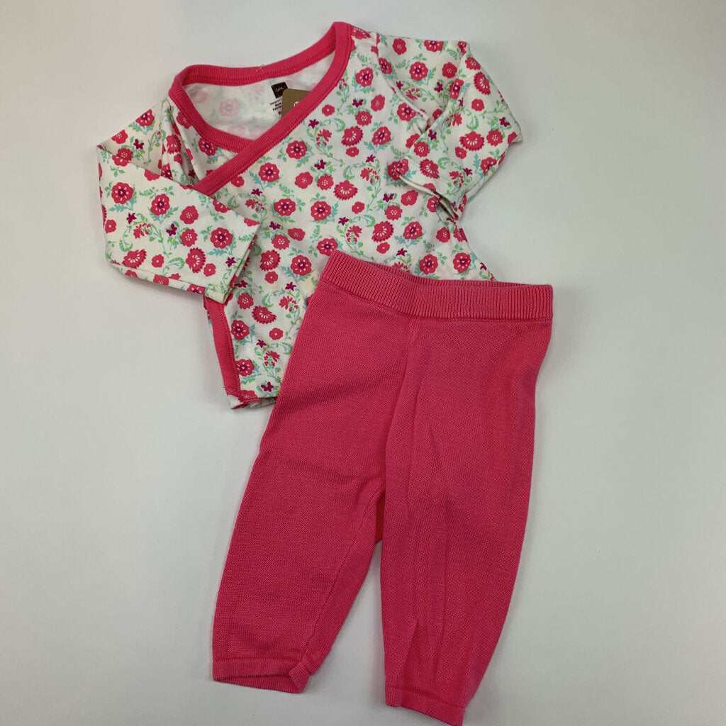 Tea 2pc Floral Set Size 3-6 mo