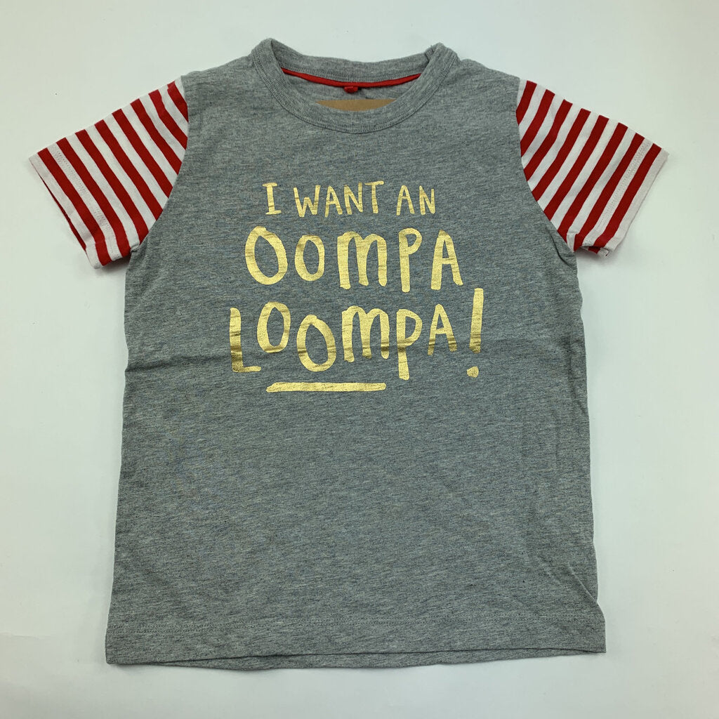 Mini Boden I Want AN Oompa Loompa T SIze 3-4