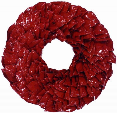 Red Laquer Wreath 18""