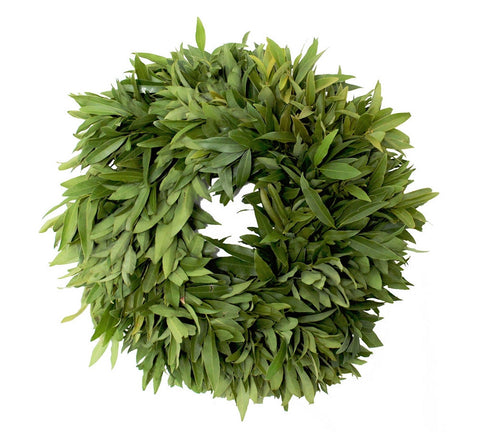 Organic Bay Leaf Wreath 16""