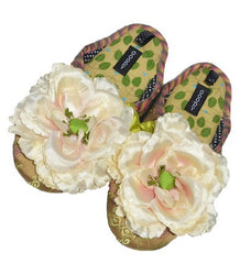 Floral Woman Velvet Slipper