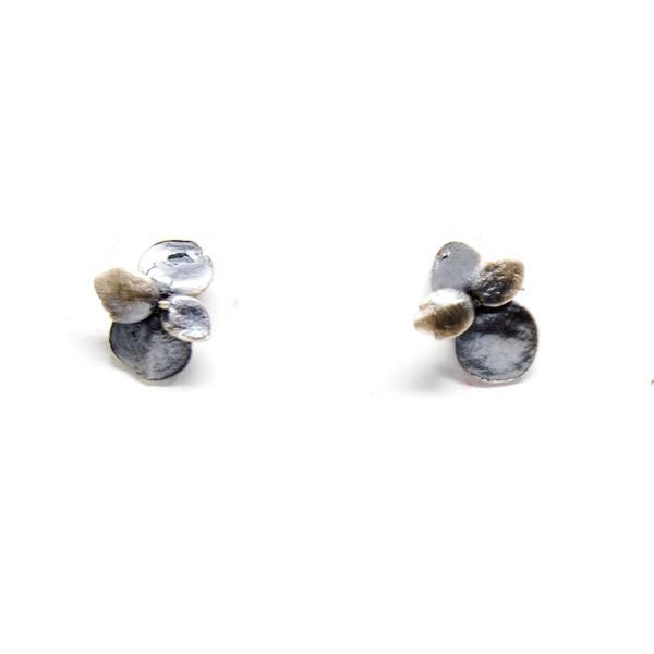 Succulent Stud Earrings Bronze